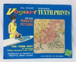 Vtg Vintage Vogart Textilprints Washable Easy To Use Transfer Patterns II36 - $10.77