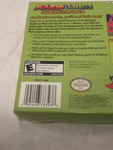 Mario & Luigi Superstar Saga Player Nintendo Game Boy Advance GBA New Old Stock