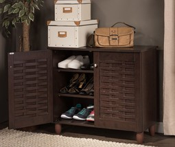Wood Shoe Storage Cabinet Entryway Mudroom Hall... - $121.00