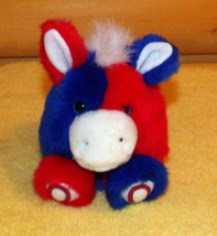 "Puffkins Plush 5"" STRIPES Red White & Blue Political Donkey - $4.44"