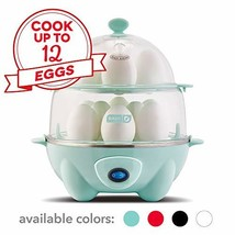 Dash DEC012AQ Deluxe Rapid Egg Cooker: Electric, 12 Capacity for Hard Bo... - $64.96