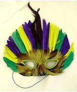 MASQUERADE sequined feather mask - one size fits all - $9.89