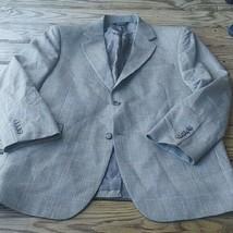 JoS A Bank mens 2 btn gray silk wool  sport coat jacket blazer sz 43 reg... - $28.71