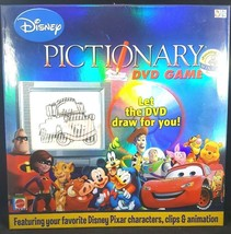 Disney Pixar Pictionary DVD Family Boardgame Kid Board Game Complete Cars Mickey - $11.87