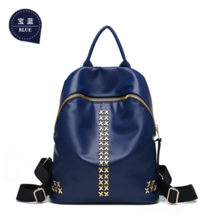 New Style 6 Color Leather Girl's Backpacks Students School Backpacks M165-9 - $38.99