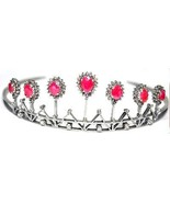 Artisan Victorian Inspired 12.25Ct Rose Cut Diamond 925 Silver Tiara Cro... - $1,074.54