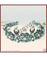 Princess Antique Look 6.55Ct Rose Cut Diamond 925 Silver Wedding Tiara C... - $971.54