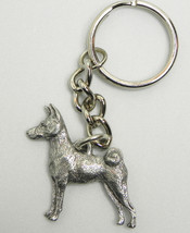 Basenji Dog Keychain Keyring Harris Pewter Made USA Key Chain Ring - $8.69
