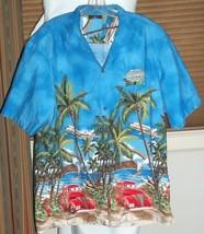 Las Vegas Castaways XXL Shirt Airplane Woody Catamaran Rainbow Welt Pocket - $79.19