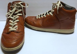 Nike Dunk Hi Premium Medium Curry Net Dark Brown Sz 13 #305808 Wheat Leather - $162.35