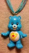 Champ Bear Care Bear Figure Necklace Care Bears Collectible Cute Cartoon Jewelry - $9.79