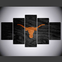 5 Panel HD Printed Texas Longhorns Football Game Picture Hoom Wall Art P... - $49.99+