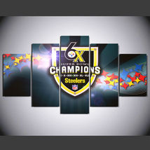 5 Panel HD Printed Football Champions Picture HD Hoom Wall Art Painting - $49.99+
