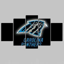 5 Panel HD Printed Carolina Panthers Football Picture Hoom Wall Art Pain... - $49.99+