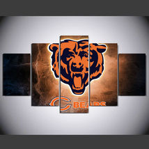 5 Panel HD Printed Chicago Bears Football Picture HD Hoom Wall Art Painting - $49.99+
