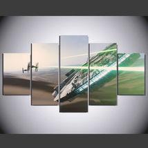 5 Panel HD Printed Star Wars Movie Picture HD Hoom Wall Art Painting - $49.99+