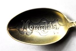 "Sterling SIlver Antique Memphis Embossed Gold Wash Souvenir Spoon 4-1/8"" - $39.59"