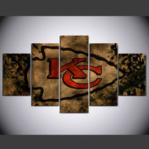 5 Panel HD Printed Kansas City Chiefs Picture HD Hoom Wall Art Painting - $49.99+
