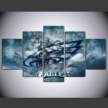 5 Panel HD Printed Philadelphia Eagles Football Picture Wall Art Painting - $49.99+