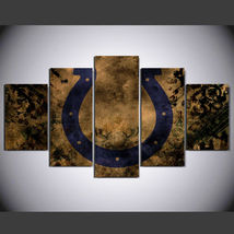 5 Panel HD Printed INDIANAPOLIS COLTS Football Picture Wall Art Painting - $49.99+