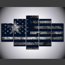 5 Panel HD Printed Dallas Cowboys Football Flag Picture Wall Art Painting - $49.99+