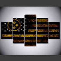 5 Panel HD Printed Pittsburgh Steelers Football Picture Wall Art Painting - $49.99+