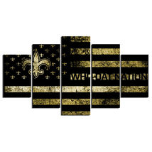 5 Panel HD Printed New Orleans Saints Football Flag Picture Wall Painting - $49.99+