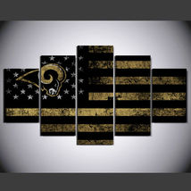 5 Panel HD Printed St. Louis Rams Football Flag Picture Wall Art Painting - $49.99+