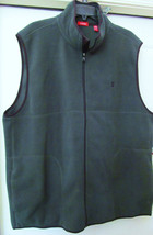 IZOD POLAR FLEECE FULL ZIP FRONT SLEEVELESS VEST-100% POLY- GREEN -SZ XL... - $37.93