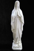 "12"" Our Lady of Lourdes Virgin Mary Catholic Statue Sculpture Made in Italy - $44.95"