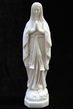 "7.5"" Our Lady of Lourdes Virgin Mary Catholic Statue Sculpture Made in I... - $34.95"