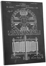 "Pingo World 0301Q3WUT1M ""Tesla Motor Patent"" Gallery Wrapped Canvas Print, 20"" x - $48.46"