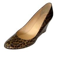 J Crew Sylvia Wedge Leopard Print  Pumps Brown Womens Shoe Size 9.5 | 6409 - £25.85 GBP