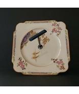 Vintage Art Deco Porcelain Tidbit Tray Single Bakelite Handle Made in Ja... - $29.99