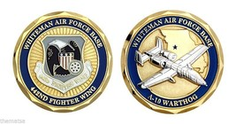 "WHITEMAN AIR FORCE BASE A-10 WARTHOG 442ND FIGHTER WING 1.75""  CHALLENGE... - $16.24"