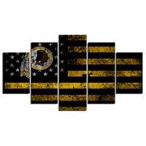 5 Pcs No Framed Printed Washington Redskins Football Flag Picture Wall P... - $47.99