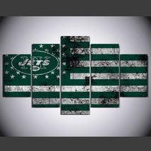 5 Pcs No Framed Printed New York Jets Football Flag Picture Wall Art Pai... - $47.99