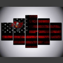5 Pcs No Framed Printed Tampa Bay Buccaneers Football Flag Picture Wall ... - $47.99