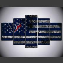 5 Pcs No Framed Printed Houston Texans Football Flag Picture Wall Art Pa... - $47.99