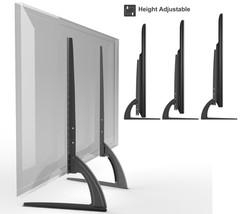 Universal Table Top TV Stand Legs for Toshiba 37E200U Height Adjustable - $43.49