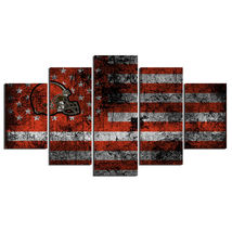 5 Pcs No Framed Printed Cleveland Browns Football Flag Picture Wall Art ... - $47.99