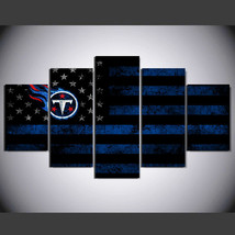 5 Pcs No Framed Printed Tennessee Titans Football Flag Picture Wall Art ... - $47.99