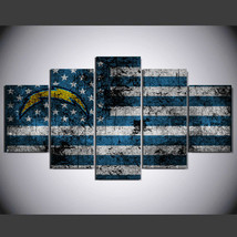 5 Pcs No Framed Printed San Diego Chargers Football Picture Wall Art Pai... - $47.99