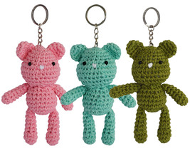 Teddy Bear Handmade Amigurumi Crochet Stuffed K... - $10.00