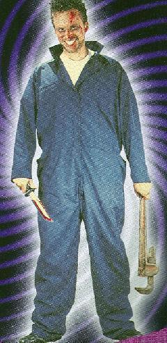 JASON VORHEES ADULT COSTUME Overall Coveralls