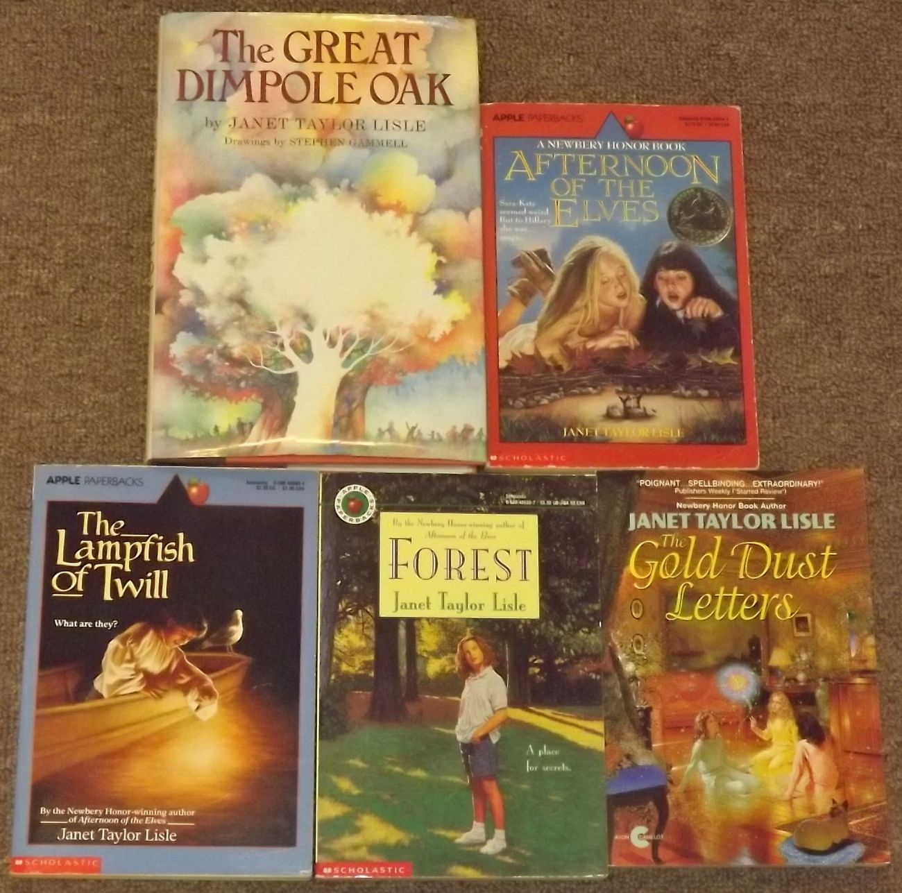 5 books by Janet Taylor Lisle Afternoon of the Elves, The Great Dimpole Oak