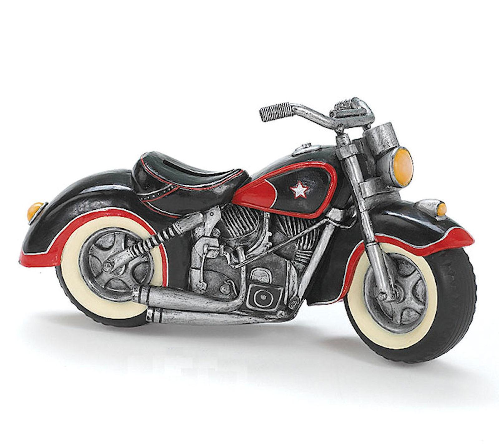 Motorcycle Piggy Bank Harley V Twin Hog Biker Gift Man Cave