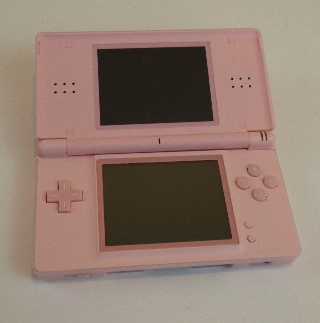 nintendo ds lite pink handheld system console usg 001 for parts repair systems. Black Bedroom Furniture Sets. Home Design Ideas