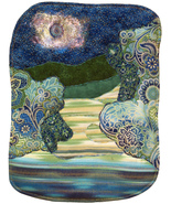Dark Moon: Quilted Art Wall Hanging - $430.00