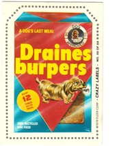 """1979 FLEER CRAZY LABELS """"DRAINES BURPERS"""" #46 STICKER CARD ONLY 99 CENTS. - $0.99"""